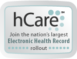 logo for hCare eletronic health record rollout